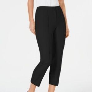 New Alfani Crochet Trim Ankle Slim Fit Pants Black